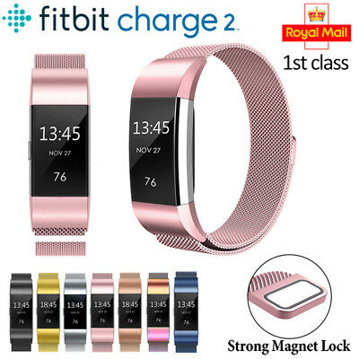 Fitbit Charge 2 Strap Replacement Milanese Loop Band Stainless Magnet Lock SF