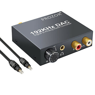DAC Digital Toslink Coaxial Optical to Analog Audio Converter Adapter L/R RCA