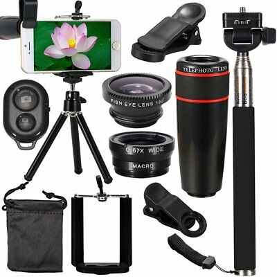 All in 1 Accessories Phone Camera Lens Travel Kit Fr Mobile Smart CellPhone #