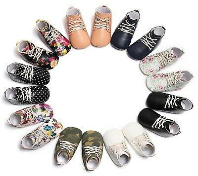 Toddler Baby Girl Boy Shoes Rubber Sole Crib Boots Booties Infant Kids Prewalker