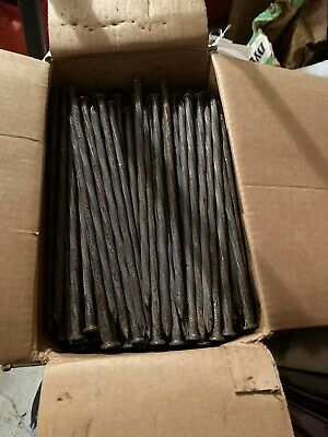 50 Lbs Box 10 Inch Galvanized Spiraled Steel Spikes