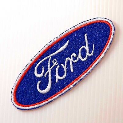 """4.0""""x1p, ford logo emblem motor auto sports embroidered iron on sew patch"""