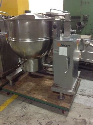 Groen DHT/P-60, 60 Gallon Steam Jacketed Tilting Kettle, Natural Gas, 115V.  TH