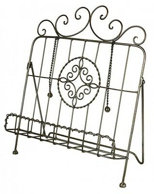 French Country Vintage Inspired Kitchen Recipe Book Holder EMBLEM Wrought Iro...