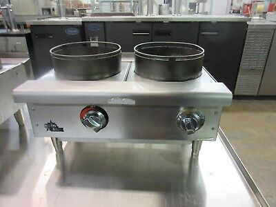Star 602HWF Natural Gas 2-Burner Wok Hot Plate