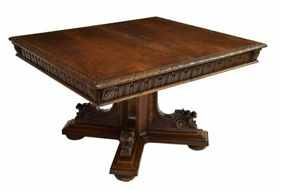 ITALIAN RENAISSANCE REVIVAL CARVED DINING TABLE, 19th Century ( 1800s )