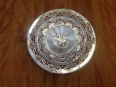 Silver Cake Stand Royal Rochester 3475 Hand Cut Fret Work Beautiful Workmanship