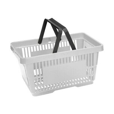 Grey Plastic Shopping Baskets x10 20 Litre Plastic Shopping Baskets