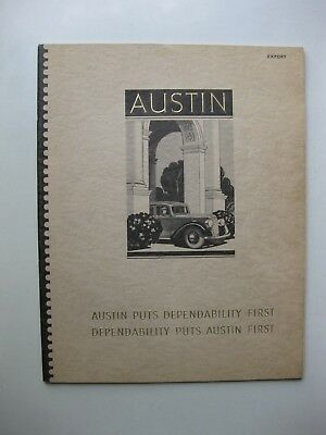 Austin Range Seven Ten Twelve Fourteen Eighteen Twenty brochure English1939 40p