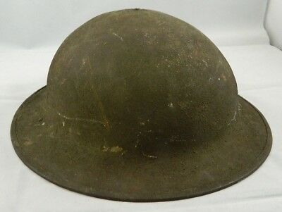 ** Wwi U.s. Doughboy Helmet Complete With Liner  **