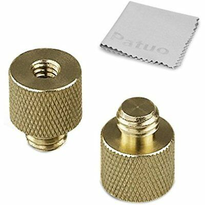 3/8-16 Inches Male To 1/4-20 Female Manfrotto Tripod Threaded Screw Reducer/