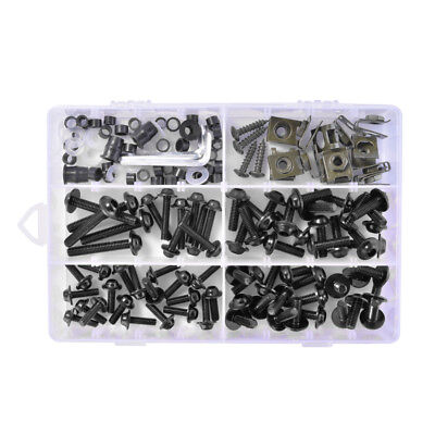 177Pcs Complete Motorcycle Windshield Fairing Bolts Nuts Screw Washer Kit MA1564