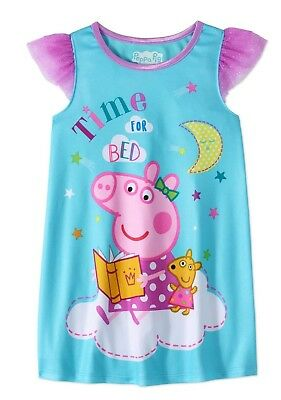 Toddler Girls Peppa Pig Nightgown Pajamas Dress Sz 4T New with Tag Summer/Spring