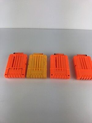 Lot 4 Nerf 6 Round Dart Gun Magazine Clips Hail-Fire upgrade