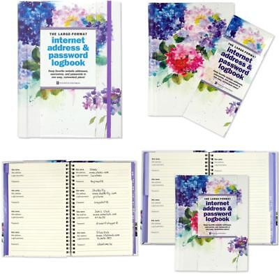 Logbook Organized Tab A-Z Personal Internet Address & Password Hardcover Spiral