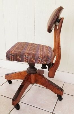 1930s Architect Swivel Chair Longmeadow Massachusetts Gunlocke