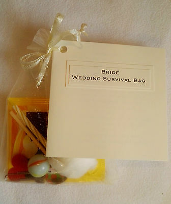 BRIDE/GROOM WEDDING Survival Kit Gift Organza bag Novelty ...