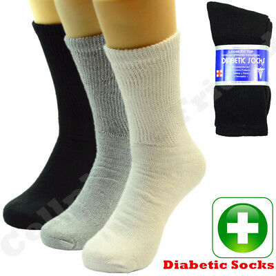3 6 12 Pairs Lot For Men's Circulatory Diabetic Crew Socks Size 9-11 10-13 13-15