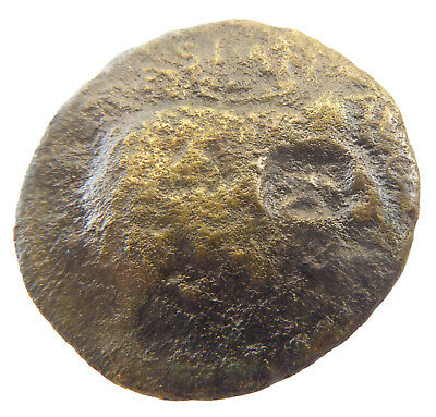 ANCIENT Roman BRONZE coin with countermark STAR  #jn668