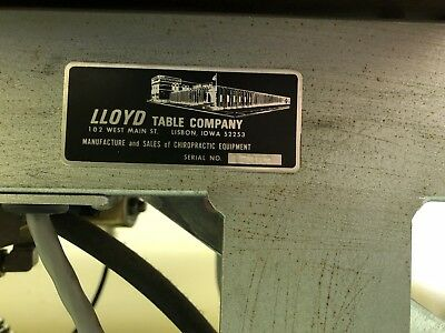 Chiropractic Adjustment Lloyd Hi/Lo 2Tables. Exc Cond; Pneumatic Or Man.Drops