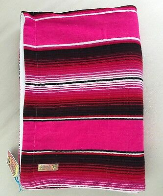 Mexican Blanket/Towel PREMIUM QUALITY Large Serape Bright Pink