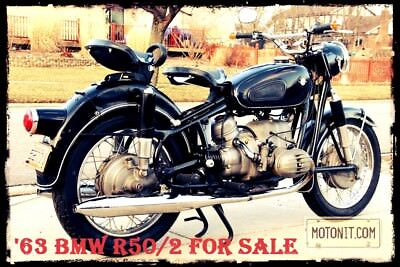 1965 BMW R-Series  Early BMW R50/2 Vintage German Motorcycle for sale w | Solo Seats | Turn Signals