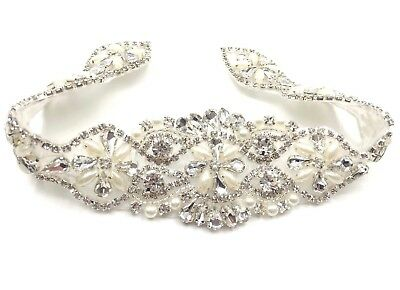 A Grade Bridal Sash Belt Wedding Dress Sash Belt Rhinestone Dress Belt
