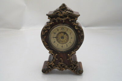 Antique French Boule Gilded Small Mantel Clock