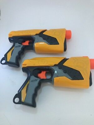 Lot of (2) Nerf Dart Tag Sharp Shot Single Shot Blaster Pistols Soft Dart Gun