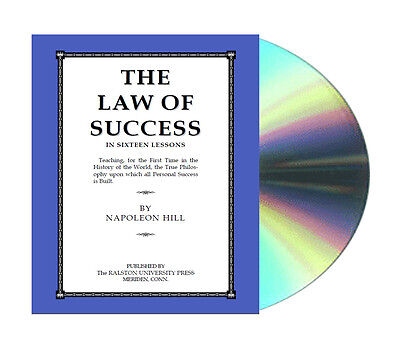 The Law of Success in Sixteen Lessons By Napoleon Hill eBook On CDROM PDF files