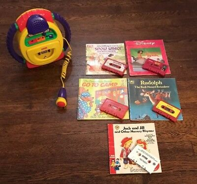 Fisher Price Tuff Stuff Cassette Player Recorder Microphone read along book lot