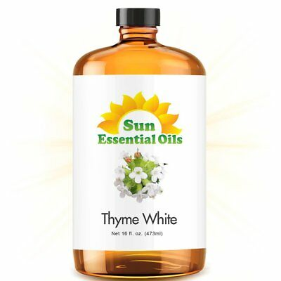 Thyme Essential Oil (Mega 16oz) 100% Pure Amber Bottle + Dropper