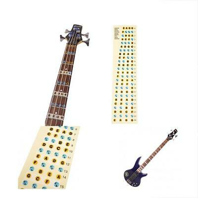 String Bass Guitar Parts Fretboard Notes Stickers Neck Key Maker