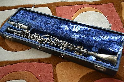 "Antique GRETSCH ""AMERICAN"" SILVER CLARINET Piccolo CASE Mouthpiece FREE SHIPPING"