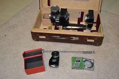 Ernst Leitz Wetzlar Leica Close-Up Kit Bellows Visoflex Hood Germany Albert