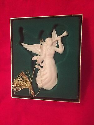 LENOX CHINA CHRISTMAS RENAISSANCE ANGEL W/TRUMPET ORNAMENT - NEW W/  Box 25yrs