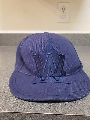 992a92ddc33 WASHINGTON NATIONALS FITTED HAT CAP AMERICAN NEEDLE NAVY BLUE Sz 7 1 4 MLB