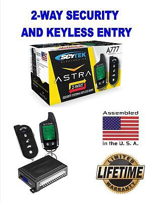 Brand New Scytek Astra 777 2 Way Paging Car Alarm System with Dual Stage Shock S