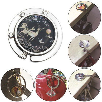 Fashion Foldable Folding Table Hook Handbag Purse Tote Bag Table Hanger Holder