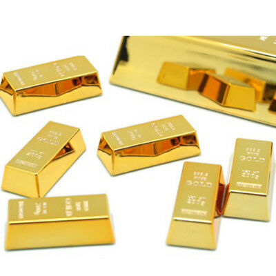 1pc Gold Brick Shape Refrigerator Magnets Resin Craft Gift For Home Refrigerator