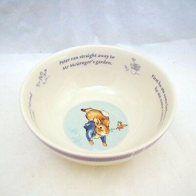 """Wedgwood PETER RABBIT (NEW LOOK) Child's Cereal Bowl 5 5/8"""" NEW w/Sticker"""