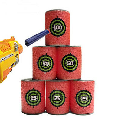 6p/lot for Nerf Gun Bullet Target Toy Soft N Strike Dart Shoot Eva Blaster Elite