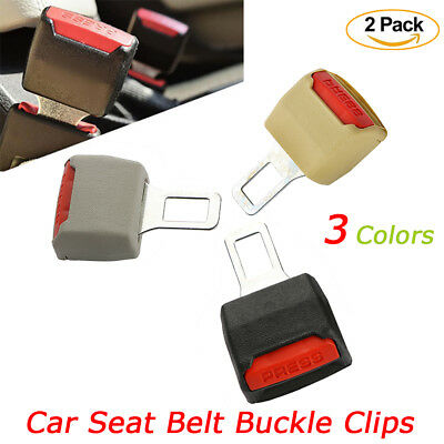 2PCS Universal Car Safety Seat Belt Extender Extension Support Buckle Lock Clip