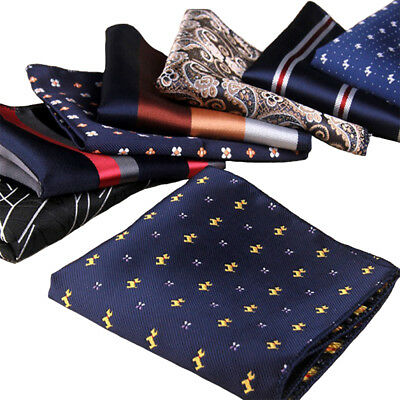Fashion Men Formal Suit Pocket Square Handkerchief Hanky for Wedding Dress Party