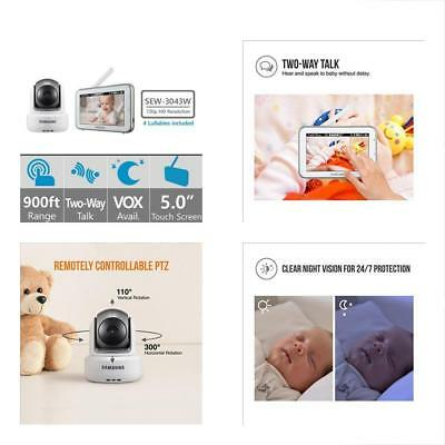 SEW-3043W BrightVIEW HD Baby Video Monitoring System IR Night Vision PTZ 5.0