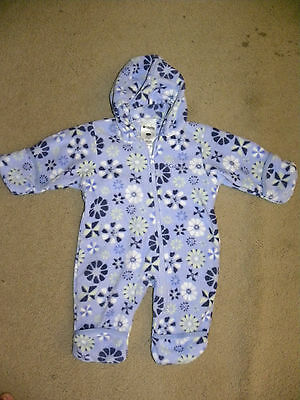 NWOT columbia baby girl hooded pattern snowsuit bunting 6 months