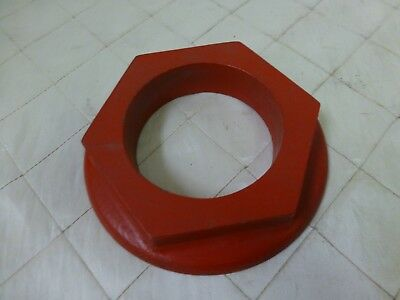 """Wood Foundry Casting Mold Pattern Large Nut Bolt Steampunk Industrial Art 4 3/4"""""""
