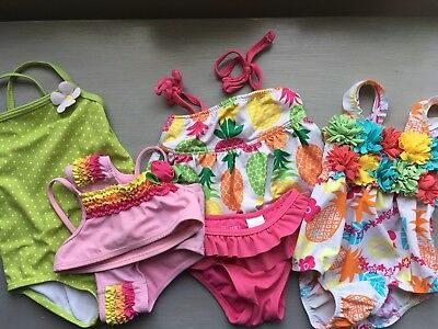 Lot Of 4 Baby Girl Swimsuits