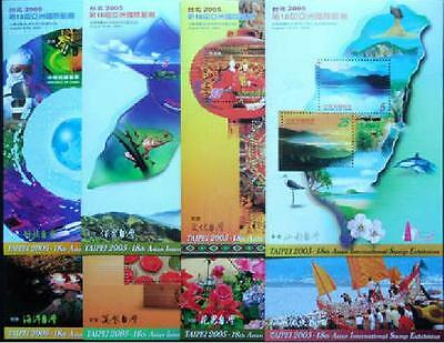 Taiwan R.O. China 2005 Stamp Expo Sheetlet NO.1 - 8 Full
