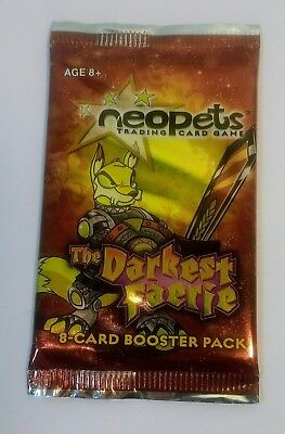 NEOPETS Trading Card Game The Darkest Faerie 8-Card Booster Pack